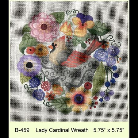 Lady Cardinal Wreath