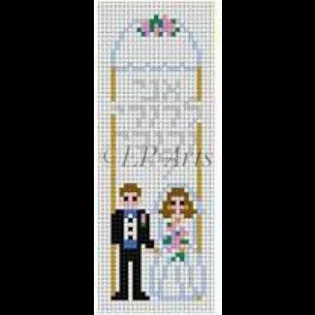 Bride and Groom Mezuzah w/Chuppah