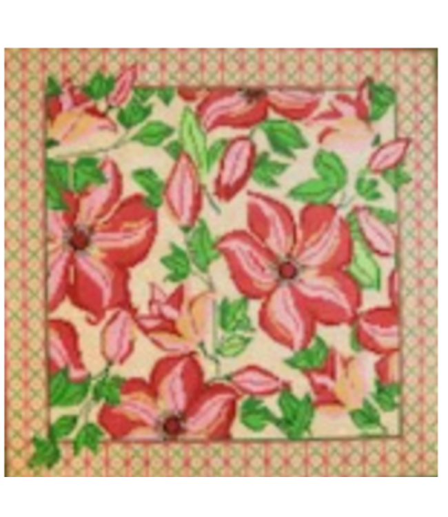 Pink Floral with Yellow and Green