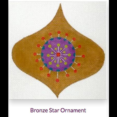Bronze Star Ornament with Ribbon