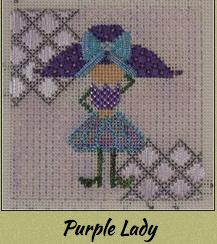 Purple Lady w/ Stitch Guide
