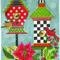 Winter Birdhouse with Stitch Guide