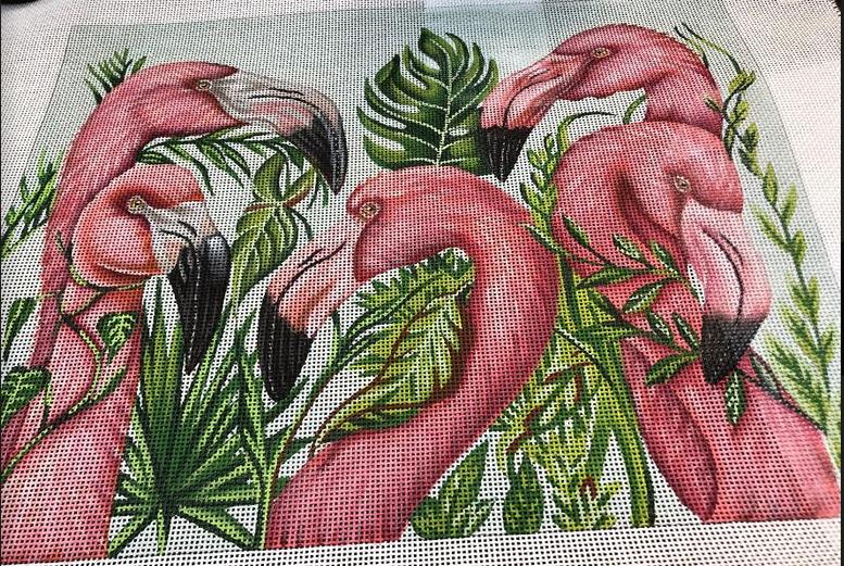 Five Flamingos