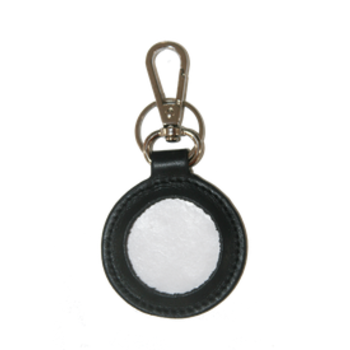 Leather Key FOB - Planet Earth