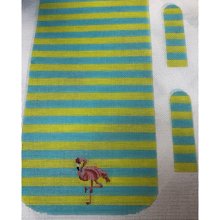 Flamingo on Stripes Purse