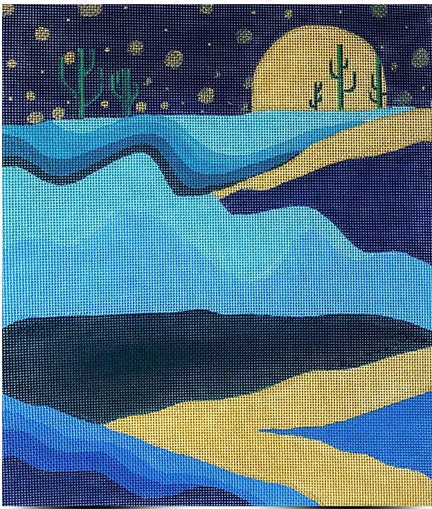 Moonset Desert