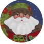 Forest Santa Round Ornament