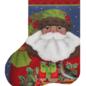 Forest Santa Mini Sock