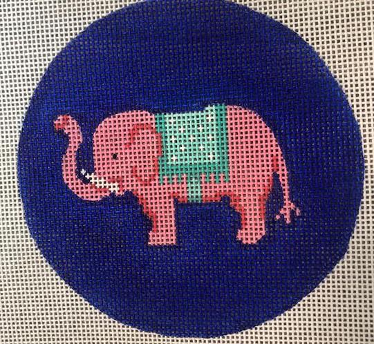 Pink Elephant w/Turquoise Blanket