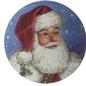 Santa Face with Holly