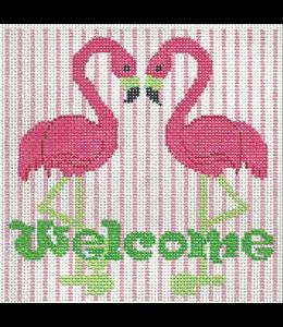Welcome Pink Flamingo