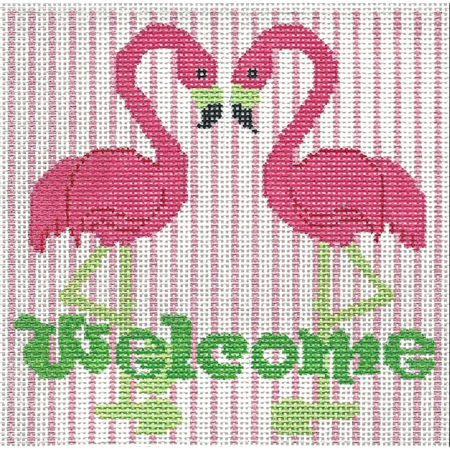 Welcome Pink Flamingo