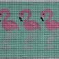 Pink Flamingo on Aqua Insert