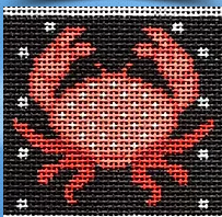 Red Crab on Black Insert