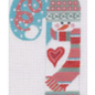 Snowman with Stripted Scarf Candy Cane