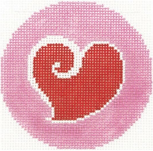 """Heart 3"""" Round"""