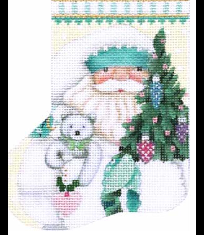 White Winter Mini Stocking