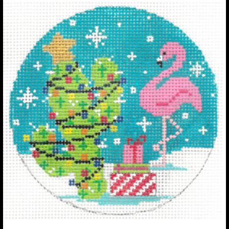 Flamingo Cactus Christmas