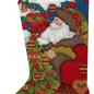 Forest Santa Tree Sock