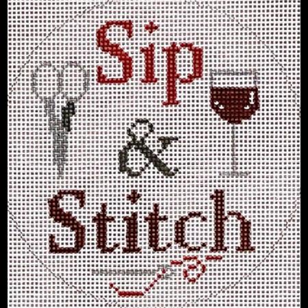 sip and stitch white