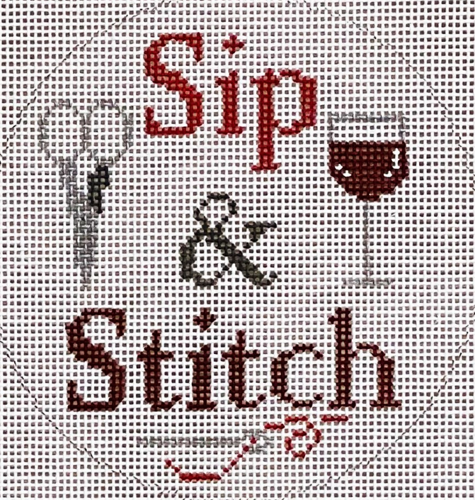 sip and stitch red