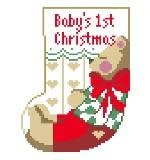 Baby's 1st Christmas mini-sock