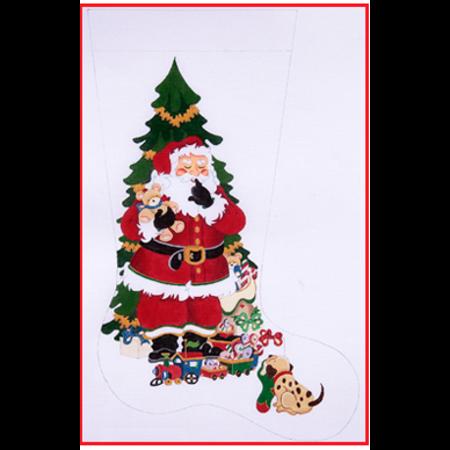 Shhhh Santa with Tree