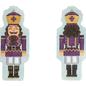 Double-Sided Nutcracker Ornament Purple