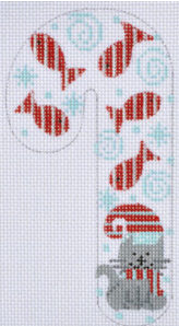 Cat Fish Candy Cane