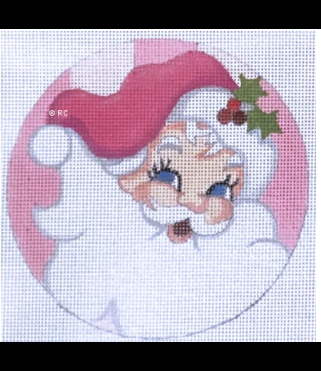 Santa Pink Background