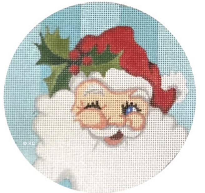 Santa Blue Background
