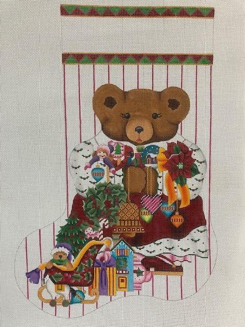 Holly Beary Stocking