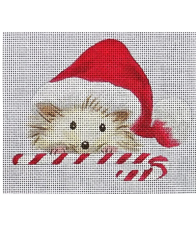 Hedgehog with candy cane