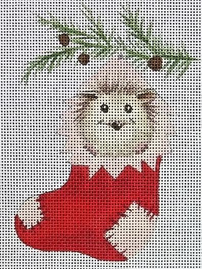 hedgehog in stocking