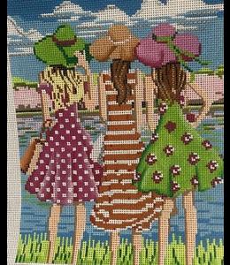 Three Girls in Spring