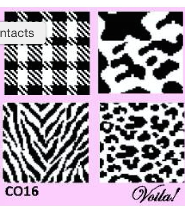 Voila BLACK AND WHITE COASTER KIT