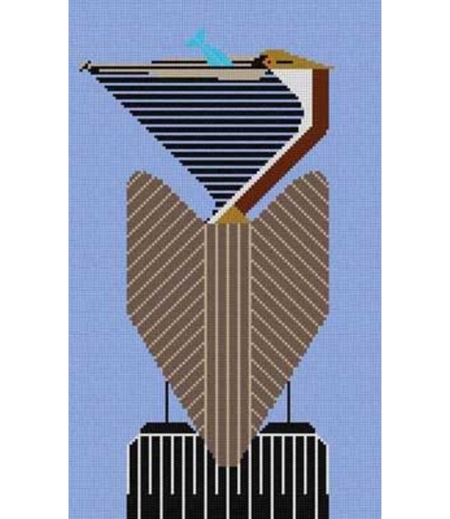 BROWN PELICAN  -- Stitch Guide Available