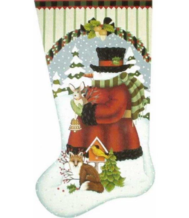 Wildwood Snowman Stocking  13Mesh