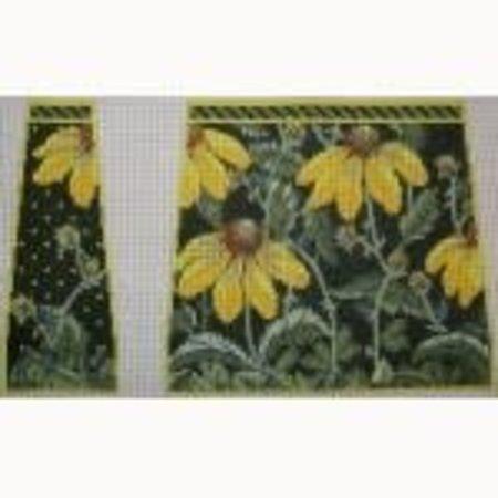 "Yellow Echinacea 4-pc Tote  12"" x 13 1/2"" x 4""  13 Ct."