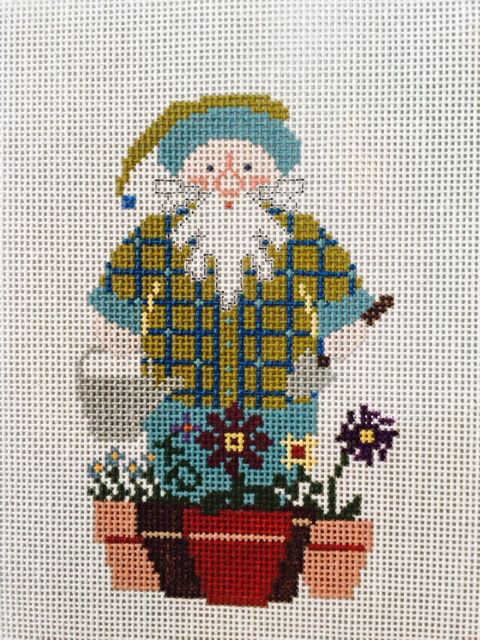 Flower Pot Santa w/ Stitch Guide