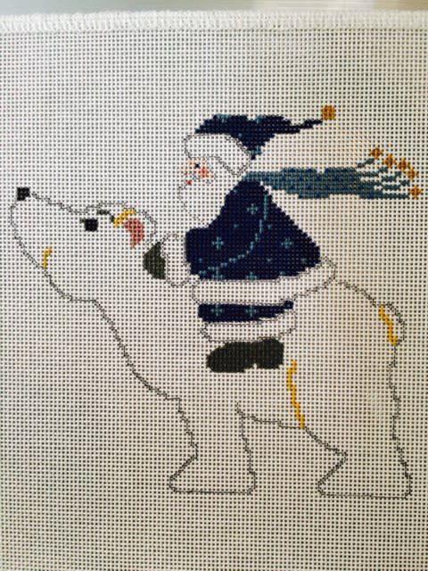 Polar Bear Santa w/ Stitch Guide