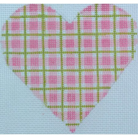 Heart Pink Plaid
