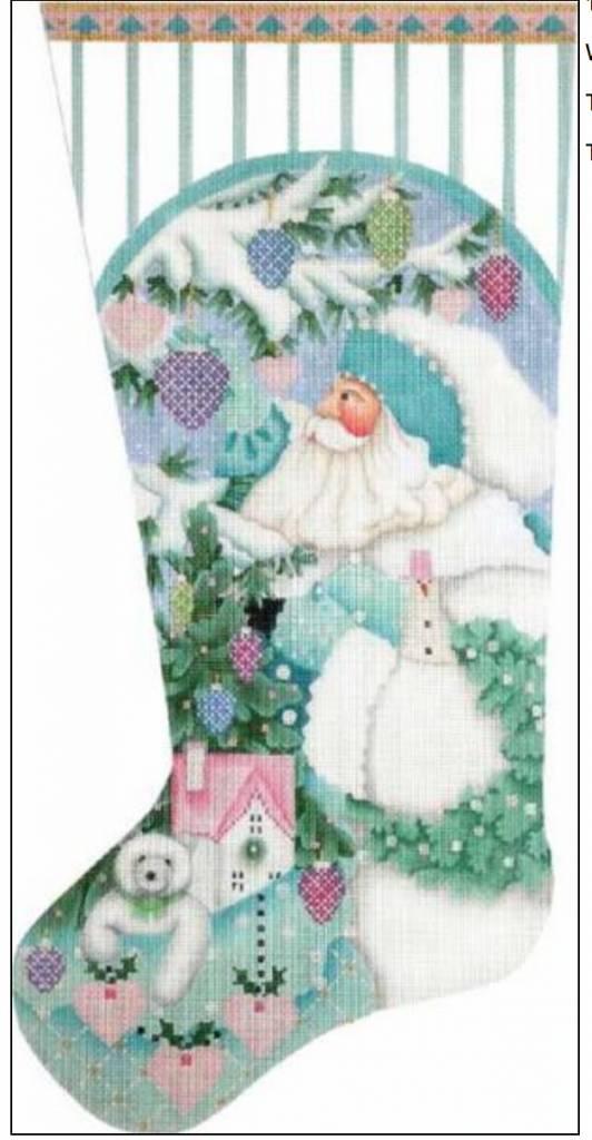 Winter White Santa Sock
