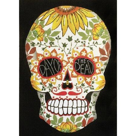 White Day of the Dead Sugar Skull