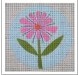 """Pink Flower 3"""" Round"""