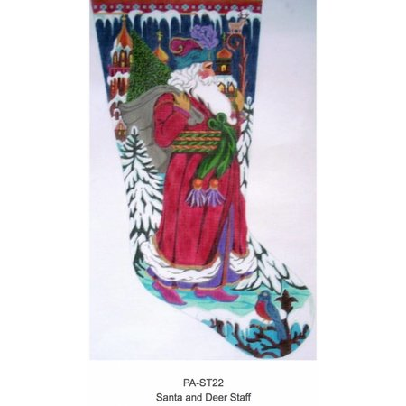 Santa and Deer Staff Stocking