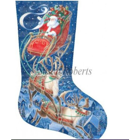 Santa Flying Through The Stars 13ct