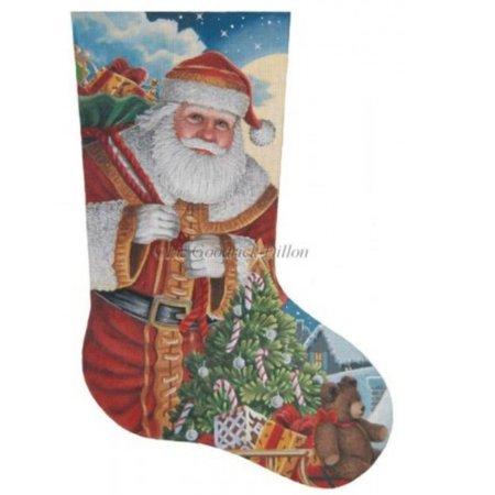Santa Moonlit Arrival