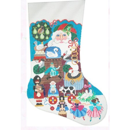12 Days of Christmas Stocking
