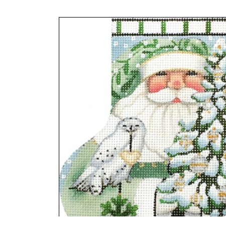 Wintergreen Santa Mini Sock